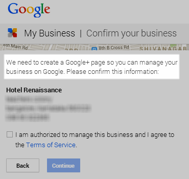 Google My Business Asks To Create Google Plus Page