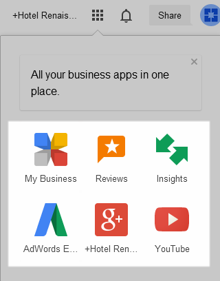 Google Apps Associated With Google My Business