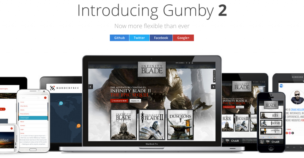 Gumby2 for Responsive Website Design