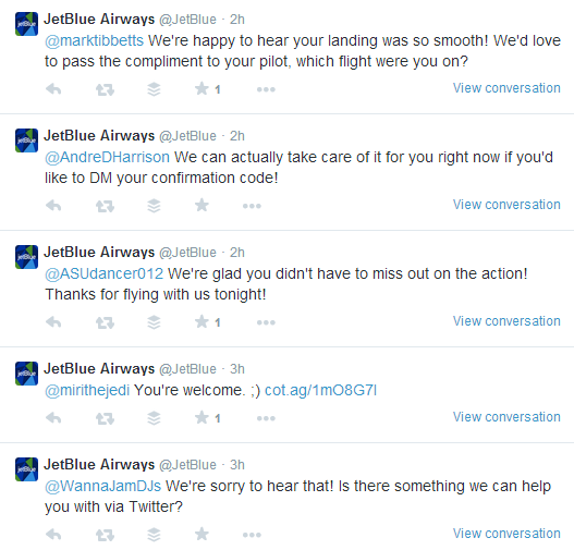 Jetblue Airways Twitter Engagement With Customers