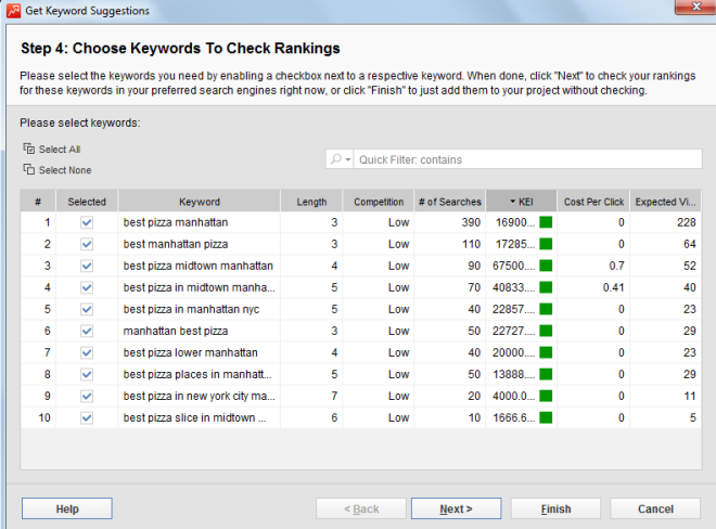 Keyword Suggestion From Rank Tracker Free Local SEO Tool