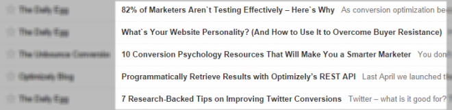 List Of Blog Titles In A Feed Reader That Are Intriguing