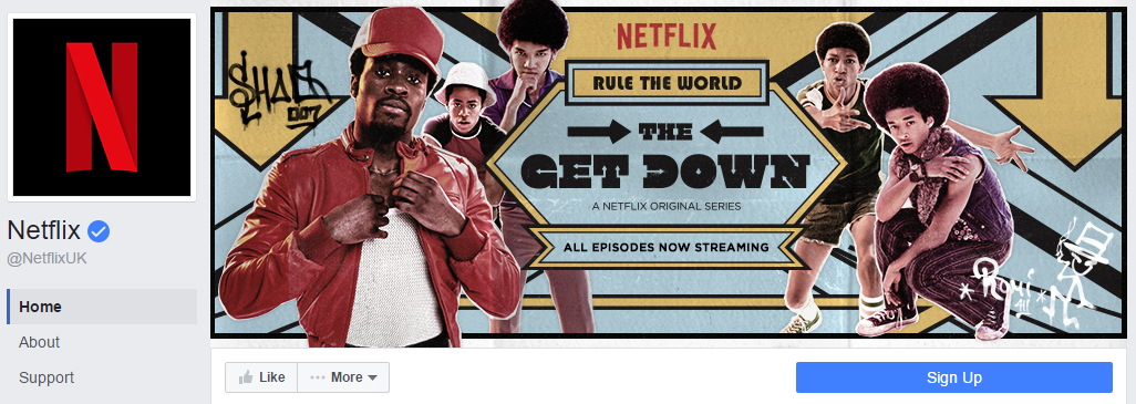 Netflix Banner advertises New Series