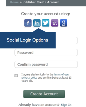 Social Login Options Sample 2