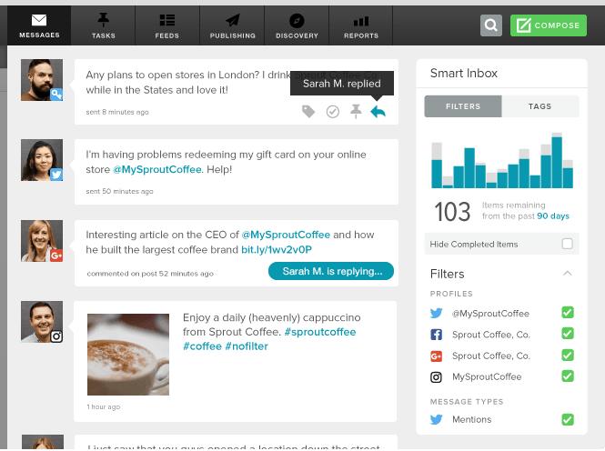 SproutSocial Social Media Management Tool