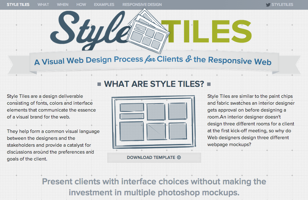 StyleTiles for Responsive Website Design