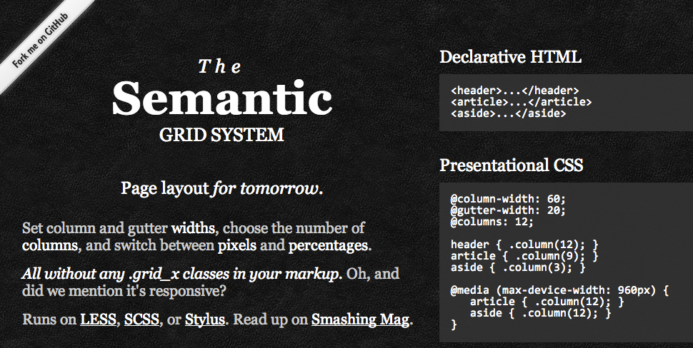 The Semantic Grid System for Responsive Web Design