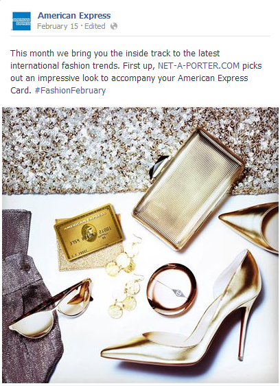 American Express Ad places product within the lifestyle photo