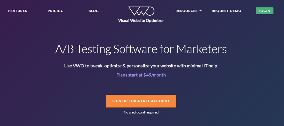 Visual Website Optimizer Usability Testing Tool