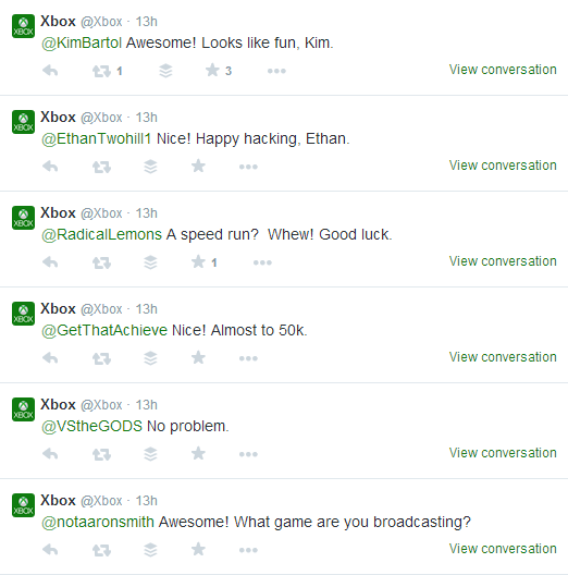Xbox Twitter Engagement With Customers