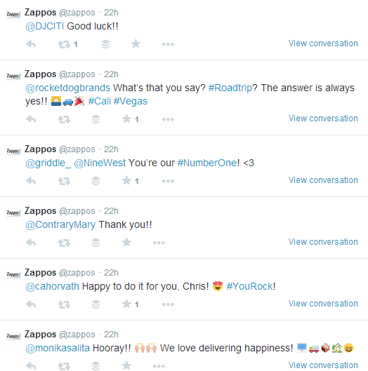 Zappos Twitter Engagement With Customers