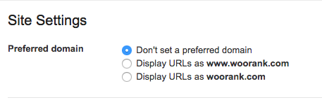 Set preferred domain in Google Search Console