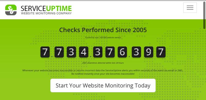 ServiceUptime free uptime monitoring tool