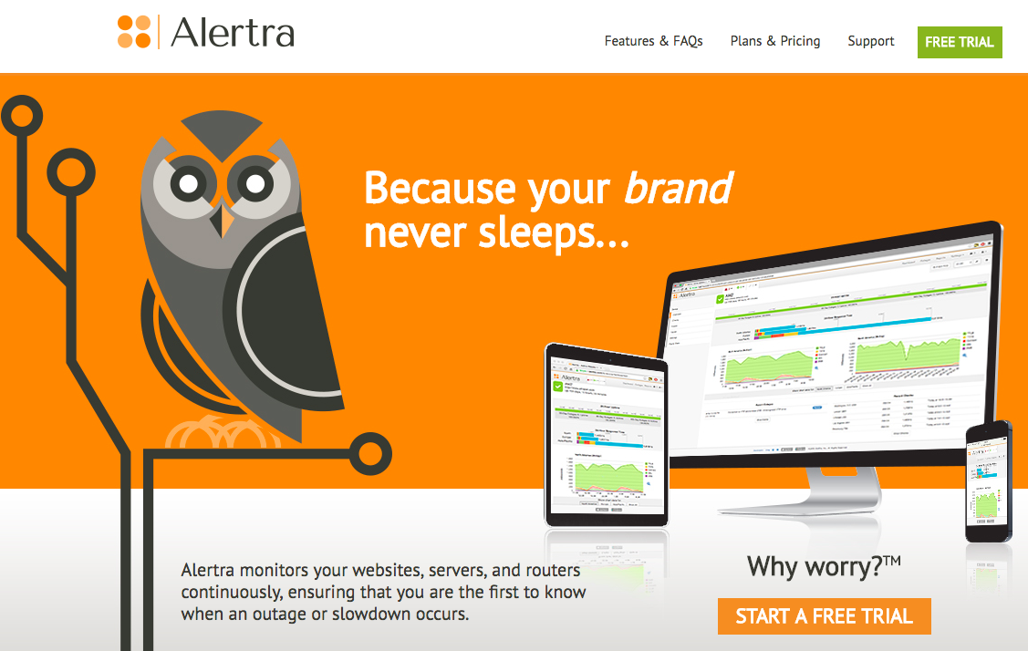 Alertra uptime monitoring tool
