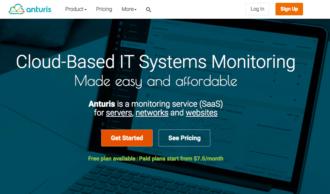 Anturis uptime monitoring tool