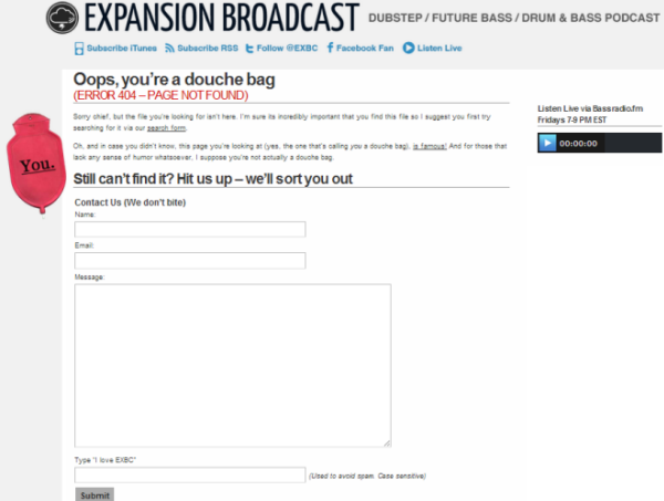 Página de Expansion Broadcast 404