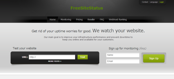 FreeSiteStatus uptime monitoring tool