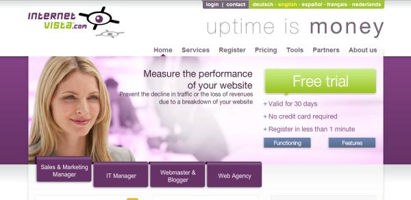 InternetVista uptime monitor tool