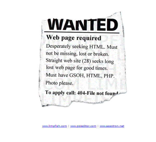LimpFish 404 page