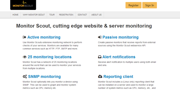MonitorScout uptime monitoring tool