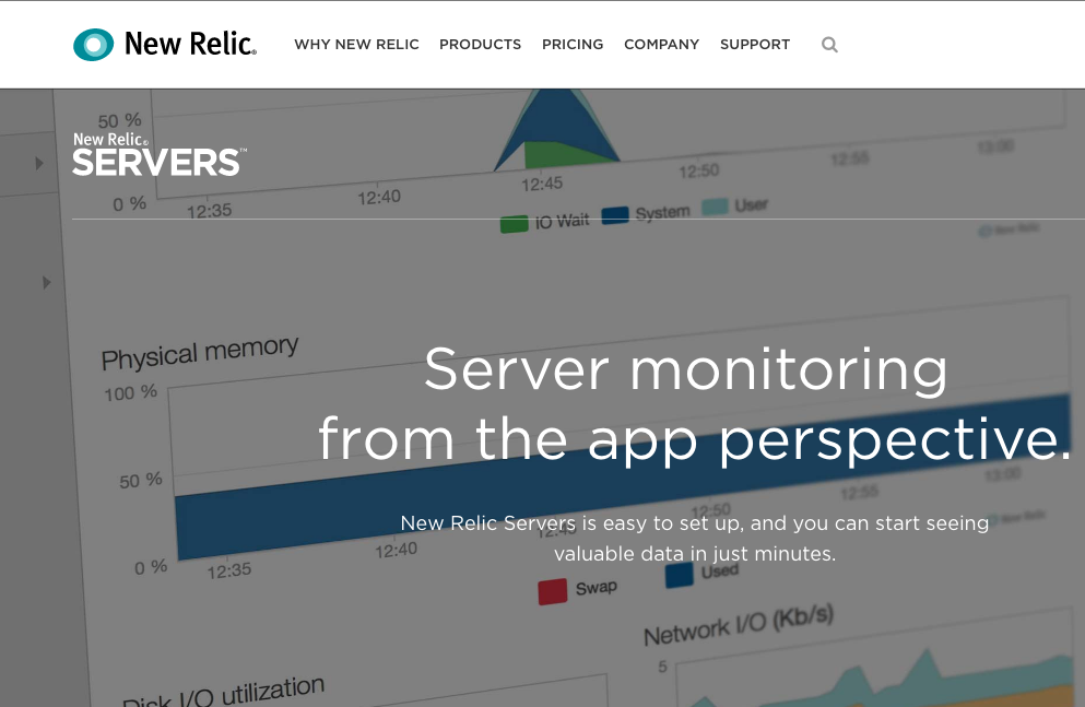 New Relic uptime monitoring tool