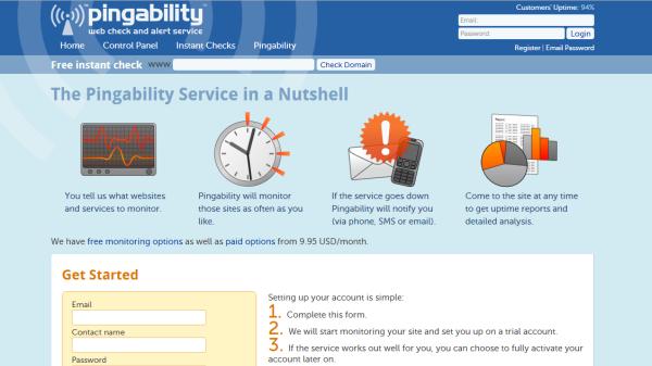 Pingability uptime monitoring tool