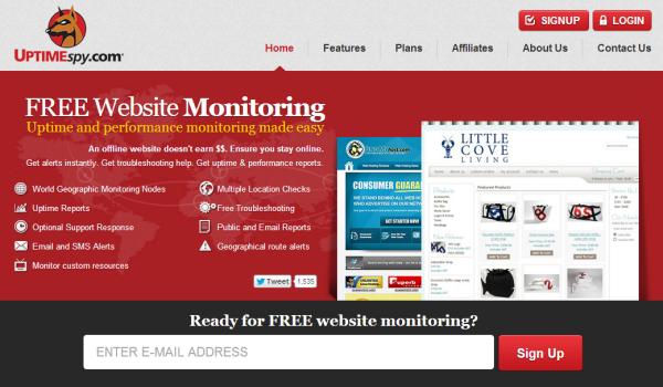 UptimeSpy Free Uptime Monitoring Service