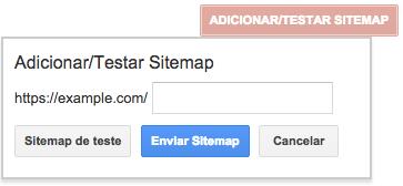 Adicionar Testar Sitemap XML