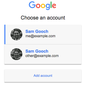 Select your Google Account