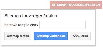 Sitemap toevoegen/testen