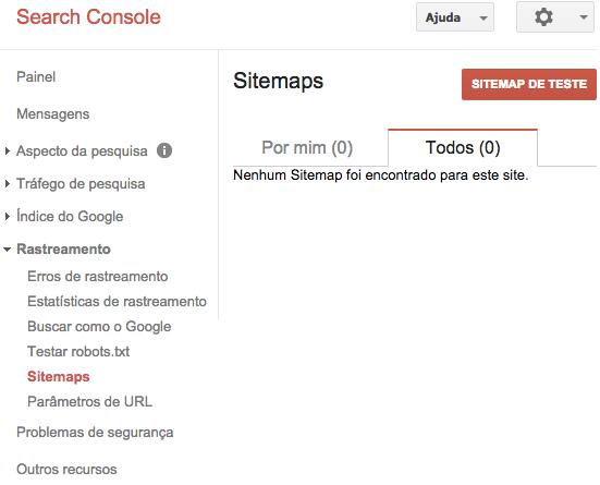 Sitemap XML de Teste