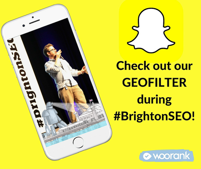Snapchat Geofilter BrightonSEO