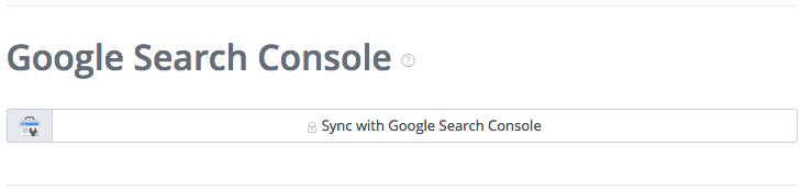 Sync with Google Search Console