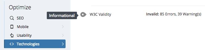 W3C Errors