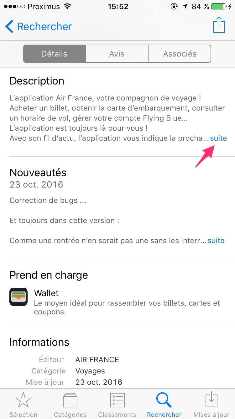description app Air France