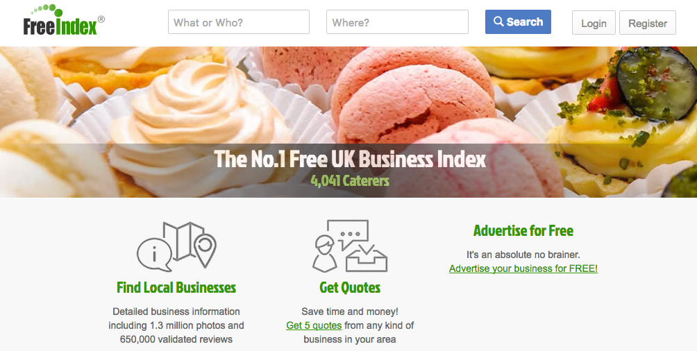FreeIndex UK's Business Listing and Local Review Site