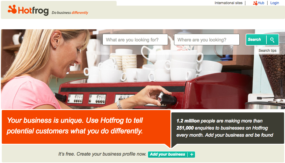HotFrog Free Business Listing Sites for UK Businesses