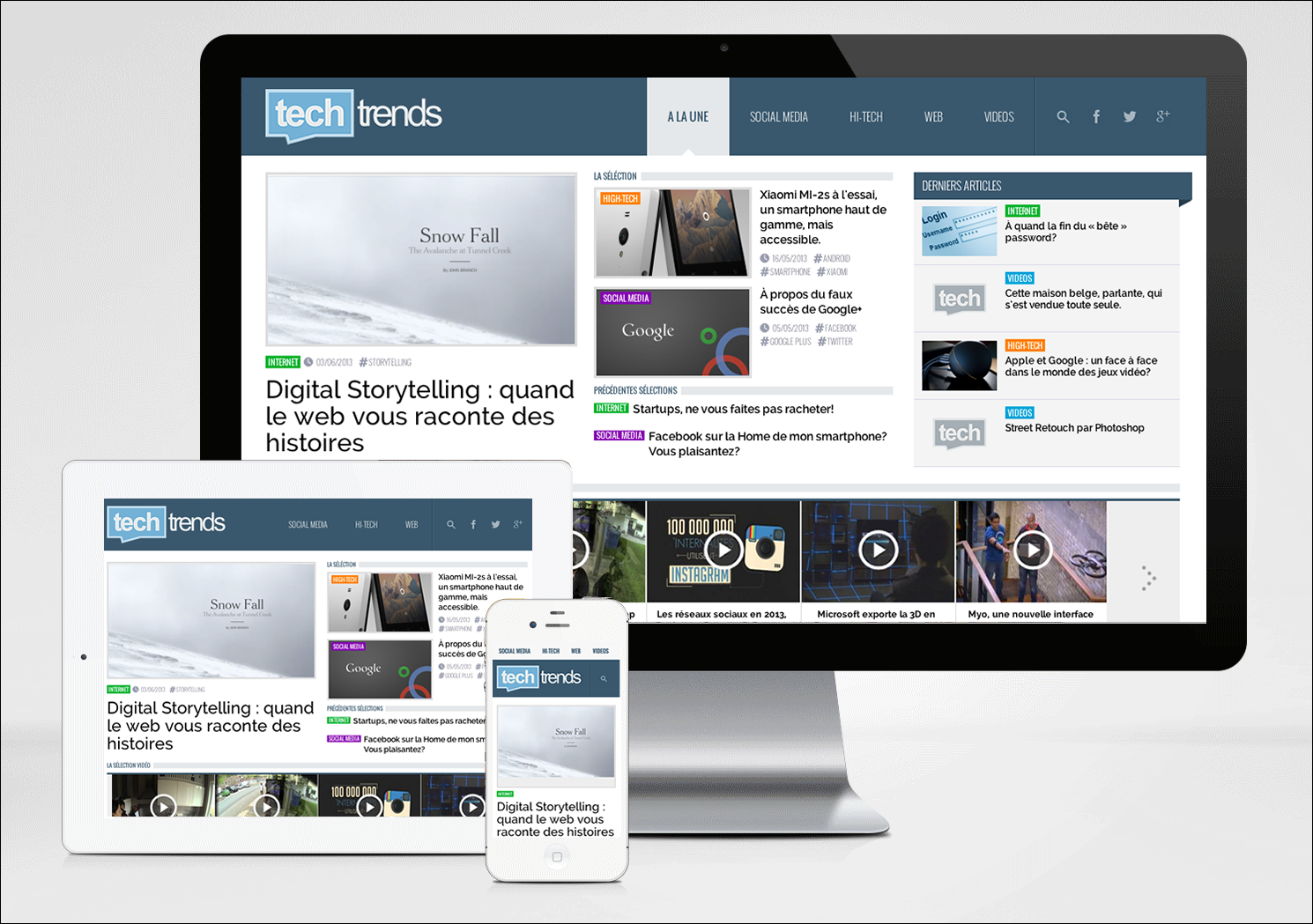 site responsive et site mobile