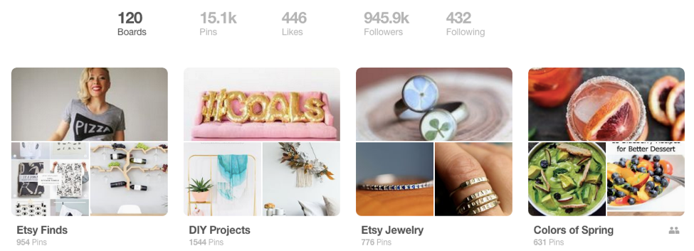 Pinterest board to connect buyer with entrepreneurs