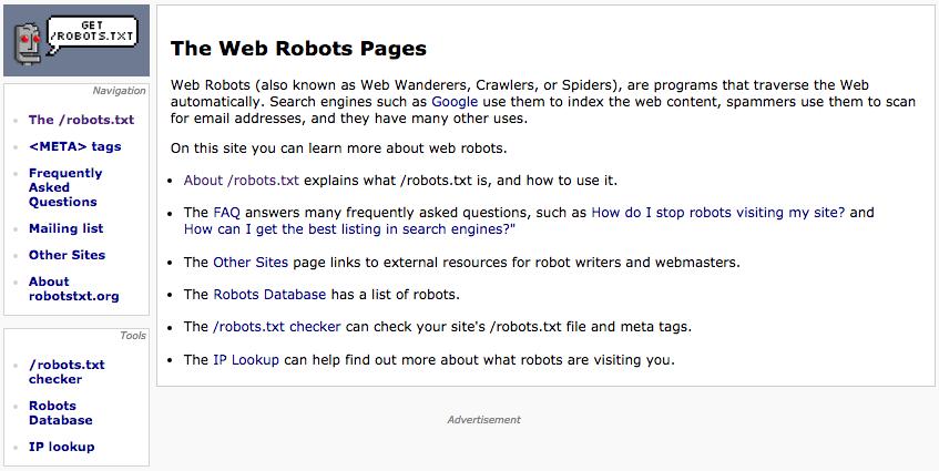 robotstxt.org