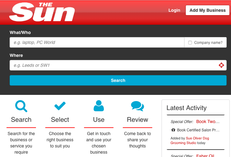 The Sun UK Business Directory