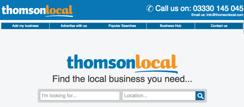 ThomsonLocal UK Business Listing Site