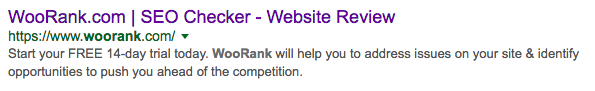 WoRank search snippet Google