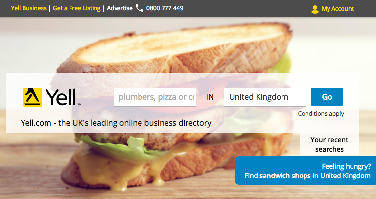 Yell.com Local Search Engine for UK Businesses