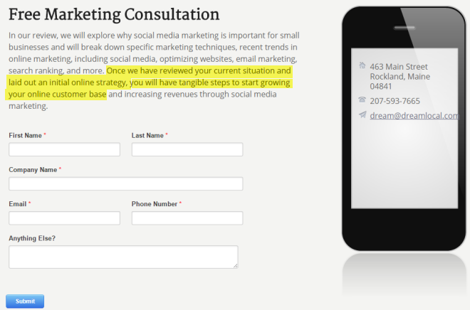 Free Marketing Consultation To Explain Initial Local Strategy