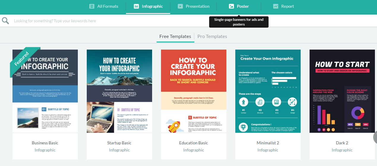 Free Infographic Tools Templates Available from Piktochart
