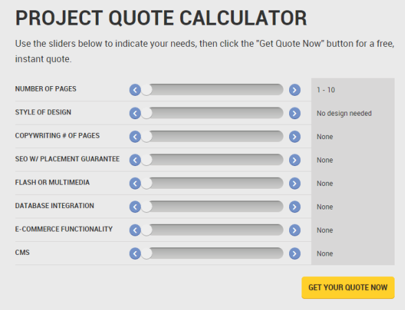 Project Quote Calculator
