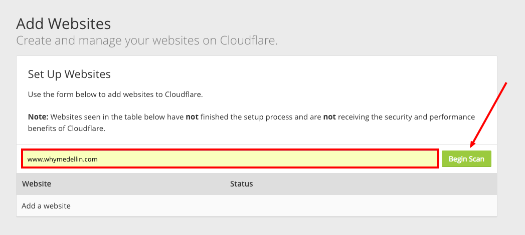 Add domain to CloudFlare CDN