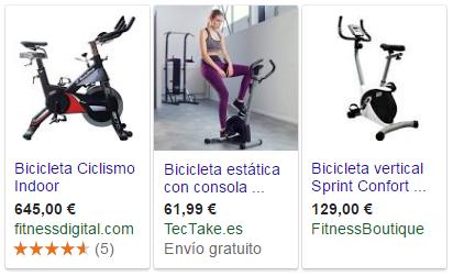 Visualización de productos de eCommerce en los resultados de búsqueda