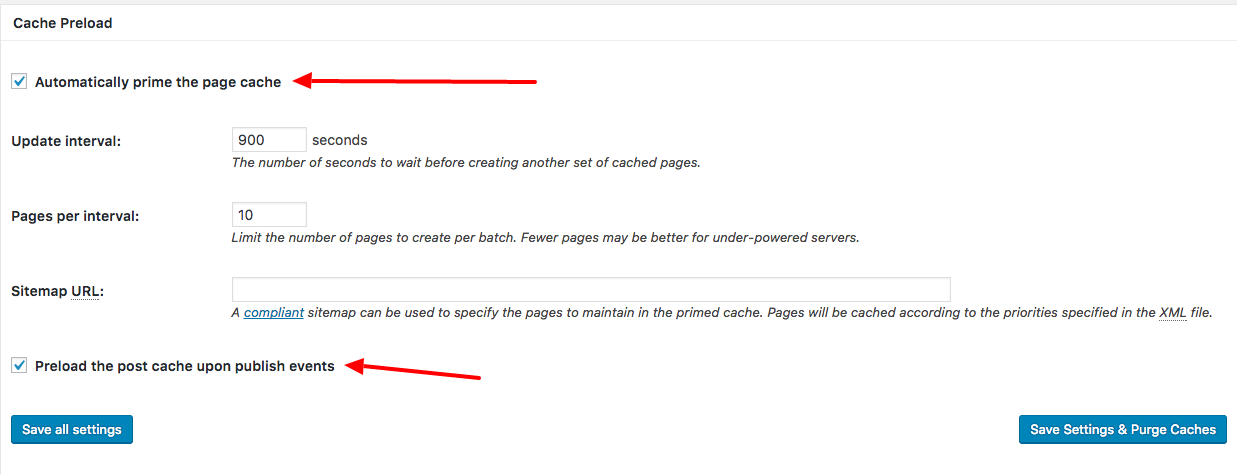 W3 Total plugin automatically prime page cache